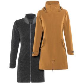 Bergans Oslo 3in1 Coat Dame outer:desertmel/inner:solidcharcmel
